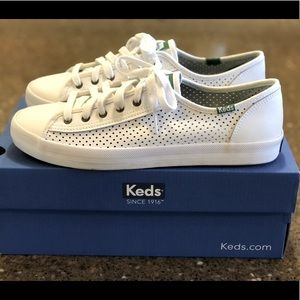 Keds, leather sneakers, tennis shoes, white, NICE